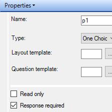<p><strong>Określanie sposobu wypełniania pytań<strong></p>Definiowanie dopuszczalnych wartości odpowiedzi dla pytań oraz rotowanie kategorii