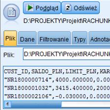 <p><strong>Pobieranie danych</strong></p>Import danych z różnych źródeł – m.in. plików IBM SPSS Statistics, arkuszy kalkulacyjnych jak Excel czy plików tekstowych