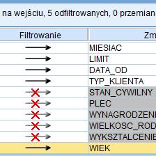 <p><strong>Selekcja i filtrowanie</strong></p>Selekcja rekordów oraz wybór kolumn do analiz